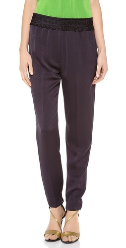 3.1 Phillip Lim Smocked Waistband Tapered Trousers at Shopbop / East Dane
