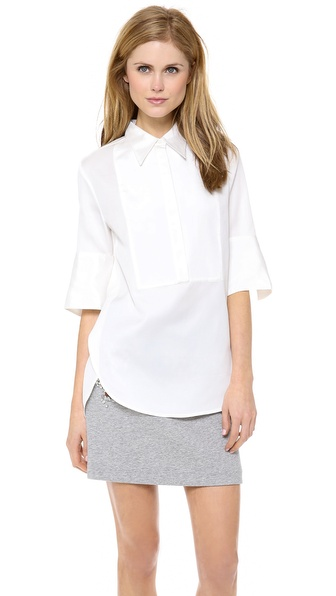 3.1 Phillip Lim Exaggerated Cuff Tuxedo Shirt
