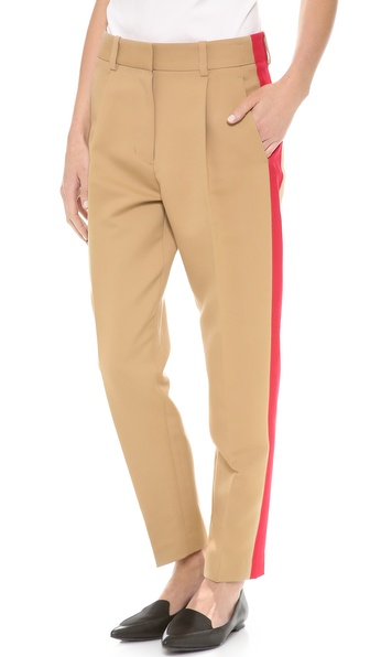 3.1 Phillip Lim Pleated Trousers with Grosgrain Stripe