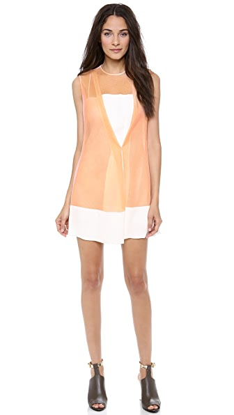 3.1 Phillip Lim Crossover Front Drape Dress