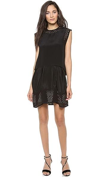 3.1 Phillip Lim Umbrella Skirt Dress with Laser Cut Dots