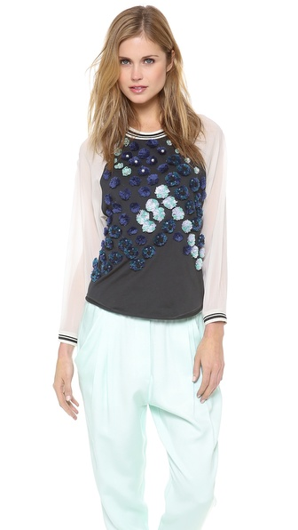 3.1 Phillip Lim Embellished Baseball Shirt