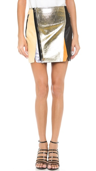 3.1 Phillip Lim Crossover Biker Skirt