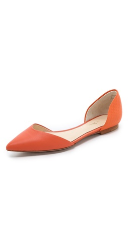 Kupi 3.1 Phillip Lim cipele online i raspordaja za kupiti Embossed pyramid studs detail refined leather 3.1 Phillip Lim d'orsay flats. Non-slip rubber patch at leather sole.  Leather: Calfskin. Imported, China. - Coral/Coral