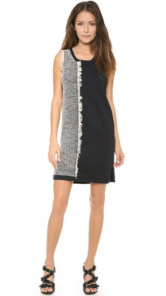 3.1 Phillip Lim Two Color Sleeveless Fringe Dress