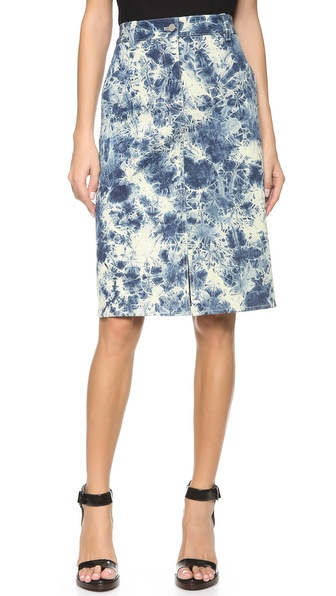 3.1 Phillip Lim Splattered Denim Pencil Skirt