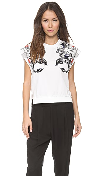 3.1 Phillip Lim Tattoo Embroidered Rib Top