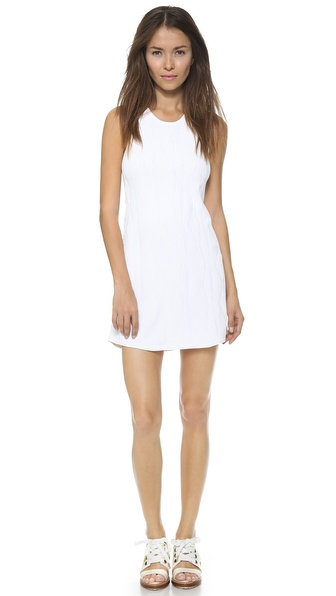 3.1 Phillip Lim Sleeveless Geometric Stitch Dress - White at Shopbop