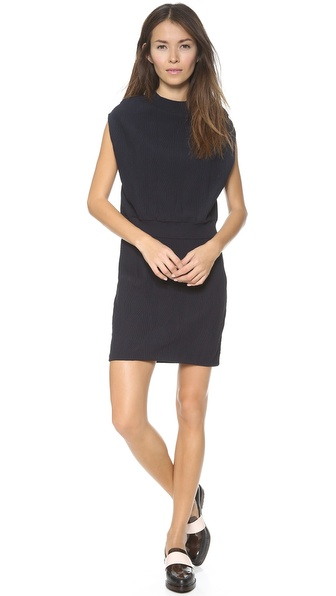 3.1 Phillip Lim Layer Geometric Stitch Dress - Coal at Shopbop