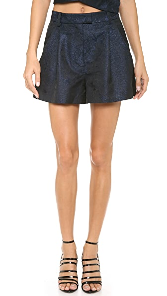 3.1 Phillip Lim Pleated Jacquard Cuff Shorts