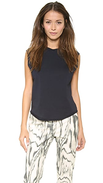 3.1 Phillip Lim Silk Sleeve Baseball Tank