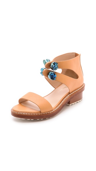 3.1 Phillip Lim Cosmic Zip Up Sandals