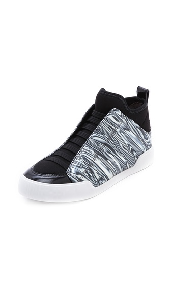 3.1 Phillip Lim Morgan High Top Sneakers - Black/White