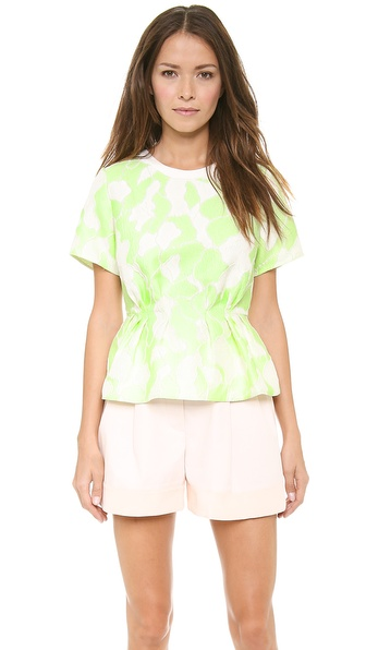 3.1 Phillip Lim Short Sleeve Floating Peplum Top