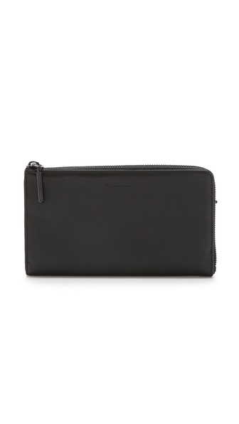 3.1 Phillip Lim 31 File Folder Zip Out Wallet - Black at Shopbop / East Dane