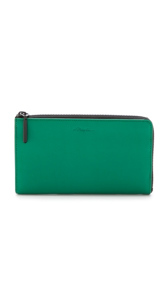 3.1 Phillip Lim 31 File Folder Zip Out Wallet - Emerald at Shopbop / East Dane