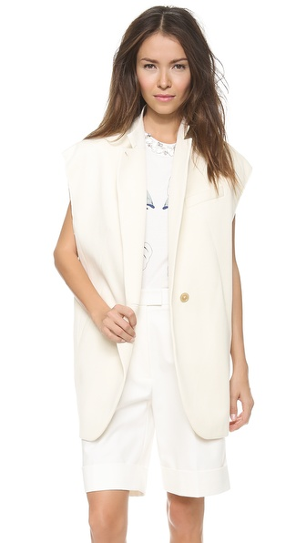 3.1 Phillip Lim Vest With Overlay Sleeves - French Vanilla at Shopbop / East Dane