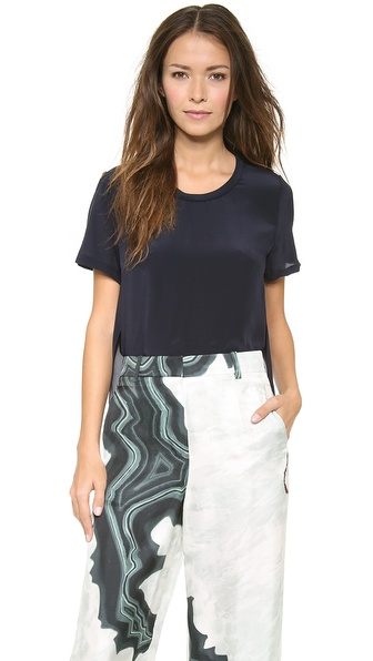 3.1 Phillip Lim Side Seam Tee Shirt - Navy at Shopbop / East Dane