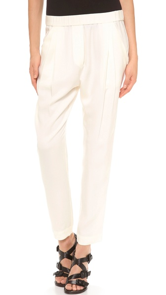 3.1 Phillip Lim Draped Pocket Trousers - White at Shopbop / East Dane