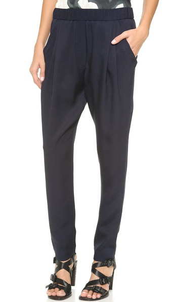 3.1 Phillip Lim Draped Pocket Trousers - Navy at Shopbop / East Dane