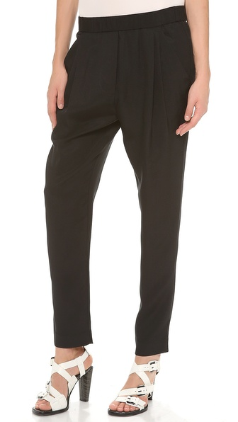3.1 Phillip Lim Draped Pocket Trousers - Black at Shopbop / East Dane