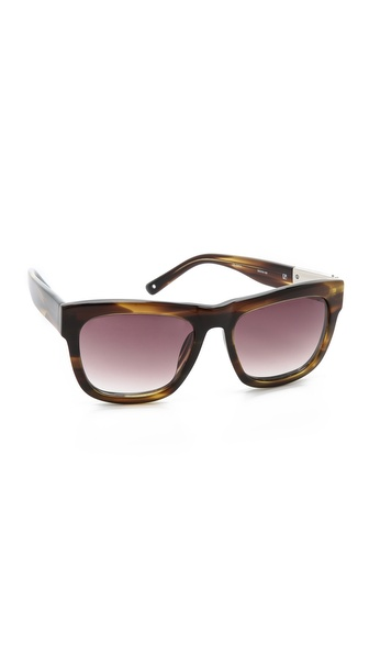 3.1 Phillip Lim Classic Sunglasses - Tiger Eye at Shopbop / East Dane