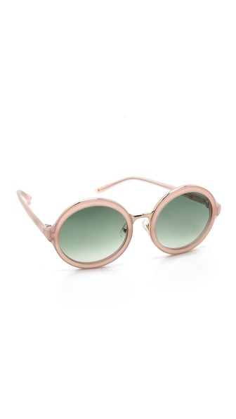3.1 Phillip Lim Glam Round Sunglasses - Frosted Salmon at Shopbop / East Dane