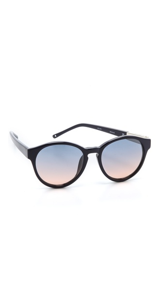 3.1 Phillip Lim Round Sunglasses - Navy at Shopbop / East Dane