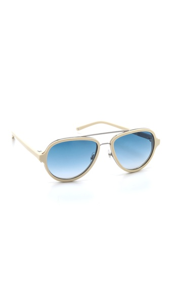 3.1 Phillip Lim Aviator Sunglasses - Bone at Shopbop / East Dane