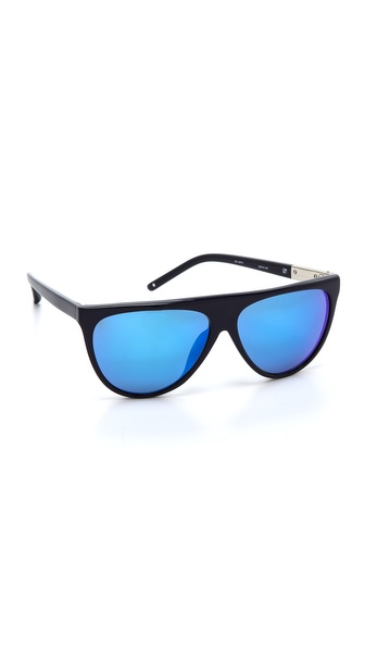 3.1 Phillip Lim Flat Top Sunglasses - Blue Mirror at Shopbop / East Dane