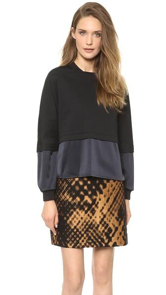 3.1 Phillip Lim Long Sleeve Double Layer Sweatshirt