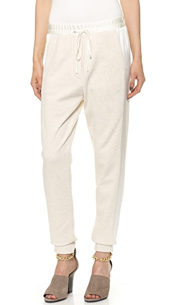 3.1 Phillip Lim Satin Trim Slim Sweatpants