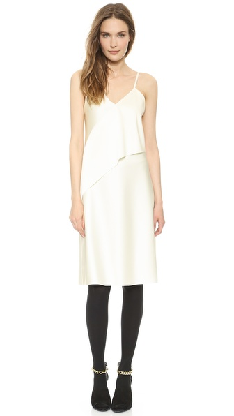 Shop 3.1 Phillip Lim online and buy 3.1 Phillip Lim Sash Slip Dress - Ivory/Ivory - A sleek sateen 3.1 Phillip Lim dress makes an ethereal impression with a draped crossover panel in front. V neckline. Slim straps. Hidden side zip. Lined. Fabric: Mid weight sateen. Shell: 85% acetate/15% polyester. Lining: 93% silk/7% elastane. Dry clean. Imported, China. Measurements Length: 39in / 99cm, from shoulder Measurements from size 4. Available sizes: 0,2,4,6,8,10