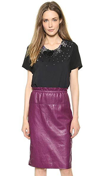3.1 Phillip Lim Overlap Beaded Tee