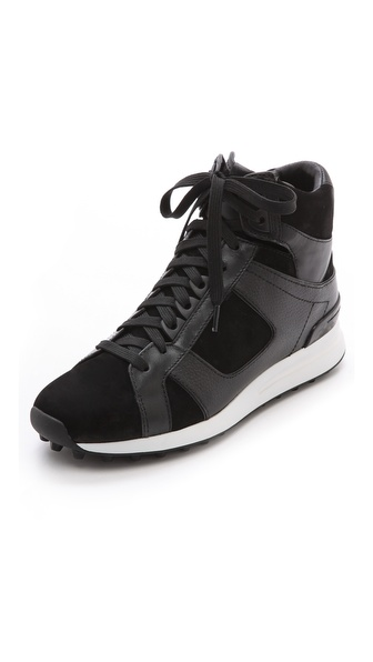 3.1 Phillip Lim Trance High Top Sneakers - Black