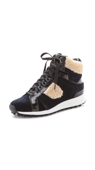3.1 Phillip Lim Trance High Top Sneakers - Navy/Natural