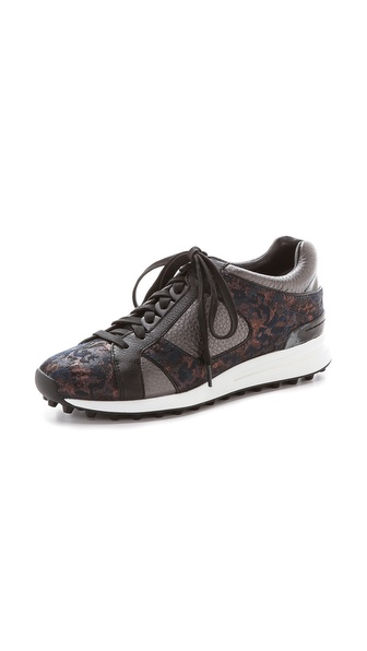 3.1 Phillip Lim Trance Low Top Sneakers - Bronze Multi/Gunmetal/Black
