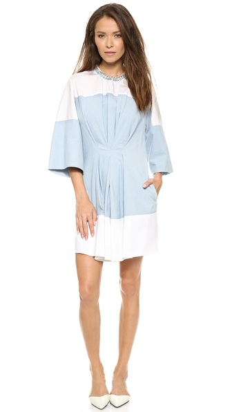 3.1 Phillip Lim Pintuck Waist Chambray Dress - Laundered Indigo at Shopbop / East Dane