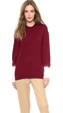 3.1 Phillip Lim Contrast Sleeve Pullover