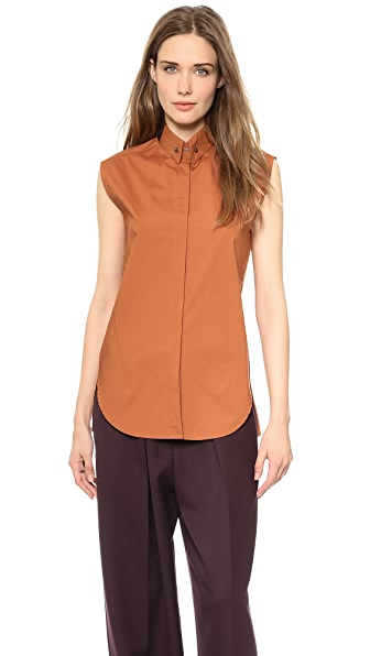 3.1 Phillip Lim Sleeveless Poplin Shirt
