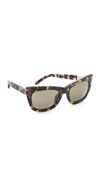 Cat Cat Cat Eye Sunglasses (Brown)