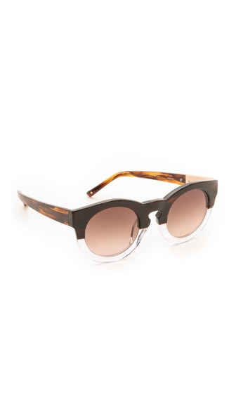 3.1 Phillip Lim Thick Frame Sunglasses - Horn/Clear
