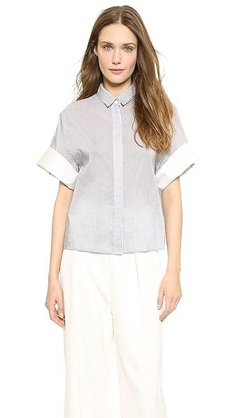 Boxy Short Sleeve Shirt (Multicolor)