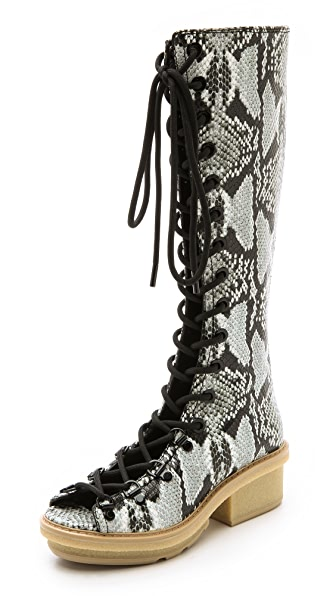 3.1 Phillip Lim Mallory Tall Sandal Boots - Off White