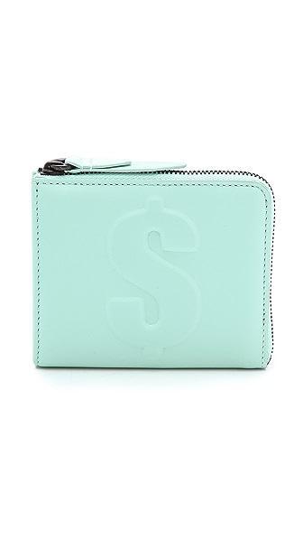 3.1 Phillip Lim Mini Zip Dollar Wallet - Chlorine