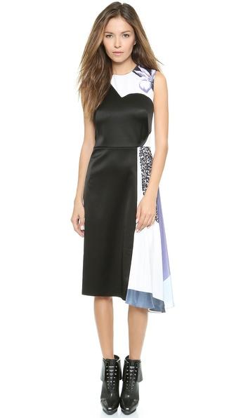 Kupi 3.1 Phillip Lim haljinu online i raspordaja za kupiti 3.1 Phillip Lim Shadow Midi Dress Purple/Caramel Multi online
