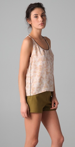 Piamita Erin Scoop Neck Tank with Keyhole Back