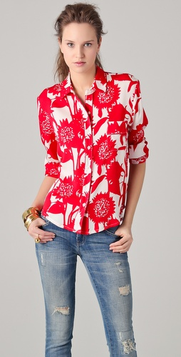 Piamita Isabella Print Blouse