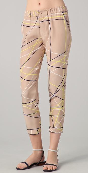 Piamita Grace Cropped Print Pants