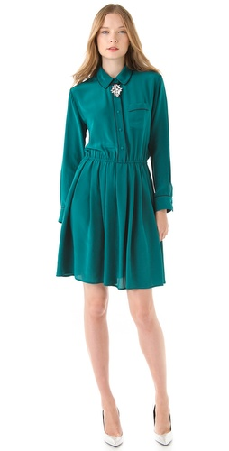 Shop Piamita Frida Solid Shirtdress and Piamita online - Apparel,Womens,Dresses,Day_to_Night, online Store